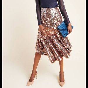 NWT Anthropologie Sequined Skirt 4